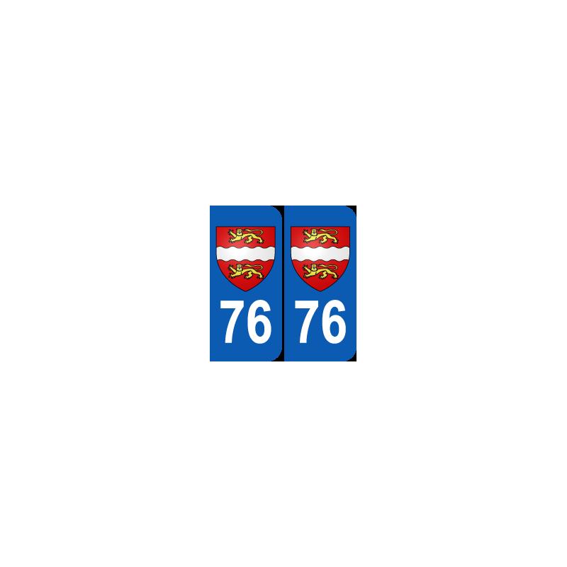 Département 76 Seine Maritime blason logo haute normandie