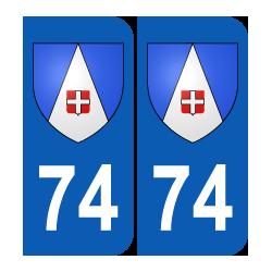 Département 74 Haute Savoie blason logo rhone alpes