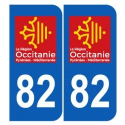 Département 82 Tarn et Garonne nouveau logo région occitanie