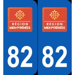 Département 82 Tarn et Garonne ancien logo région midi pyrénnées