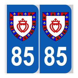 blason Département 85 Vendée région pays de la loire