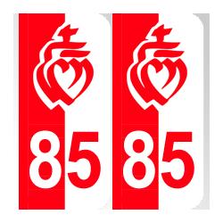 Département 85 Vendée couleurs drapeau vendéen