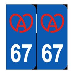 Département 67 bretzel alsacien région alsace
