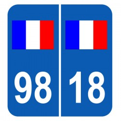 Stickers plaque France 98 18 Coupe du monde