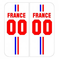 Stickers plaque Maillot champion du monde personnalisable