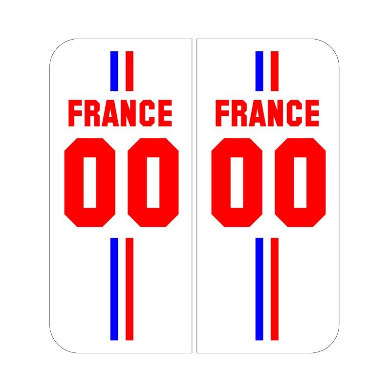 Stickers plaque Maillot champion du monde personnalisable