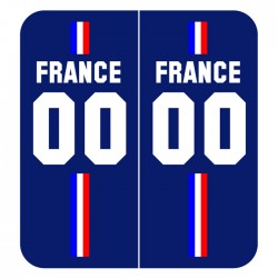 Stickers plaque Maillot bleu champion du monde personnalisable