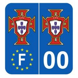 Stickers fpf pour plaques française avec votre département