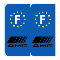 Stickers plaque AMG