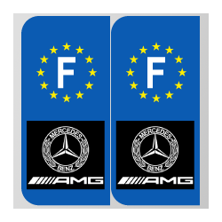 Stickers plaque AMG mercedes
