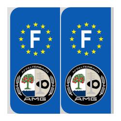 Stickers plaque logo AMG