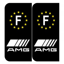 Stickers plaque AMG noir