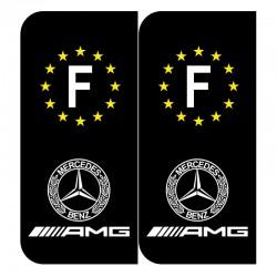 Stickers plaque AMG mercedes noir