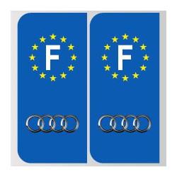 Stickers plaque Audi logo