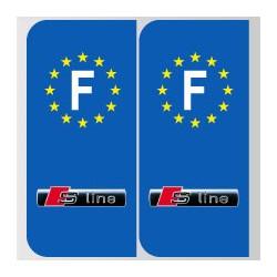 Stickers plaque Audi s line