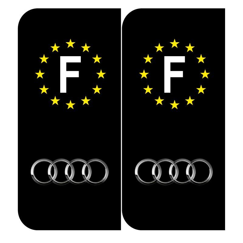 Sticker plaque Audi noir