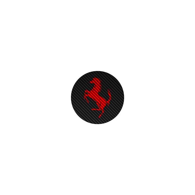 Ferrari façon carbone rouge