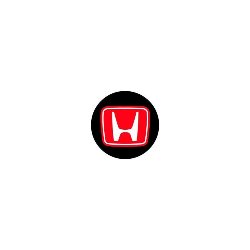 Honda rouge fond noir