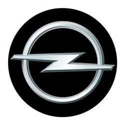 Opel logo fond noir