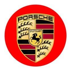 Porsche fond rouge