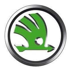 Skoda logo blanc