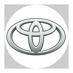 Toyota logo fond blanc