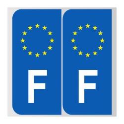 Stickers plaque F gauche