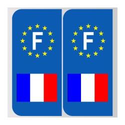 Stickers plaque drapeau français