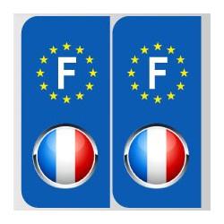 Stickers plaque logo drapeau français