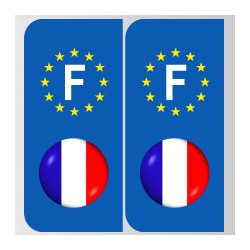Stickers plaque logo bleu blanc rouge