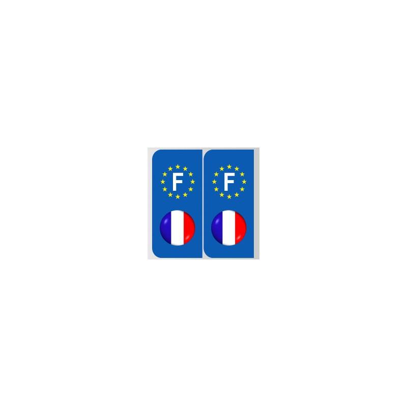 Stickers plaque logo bleu blanc rouge