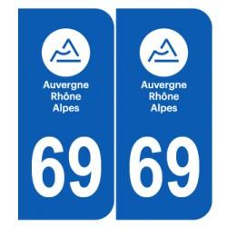 Département 69 Rhône nouveau logo auvergne rhone alpes
