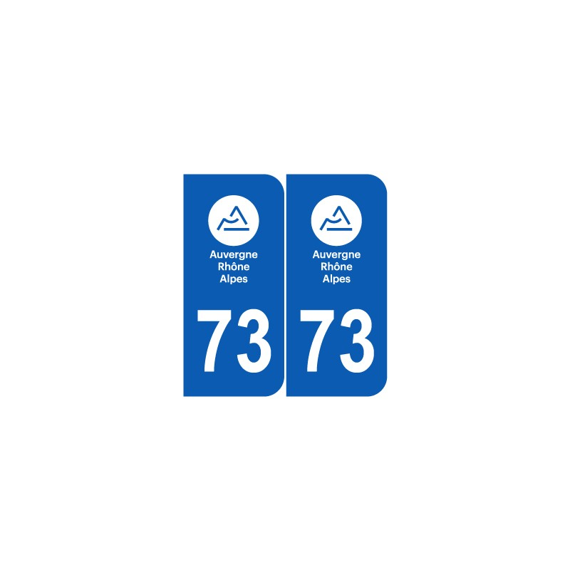 Département 73 Savoie nouveau logo auvergne rhone alpes