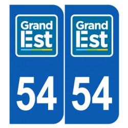 Département 54 Meurthe et Moselle nouveau logo grand est