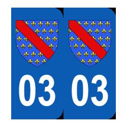 Département 03 Allier blason