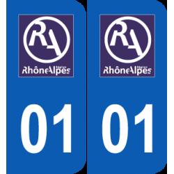 Département 01 Ain ancien logo rhone alpes
