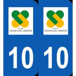 Département 10 Aube ancien logo champagne ardenne
