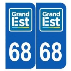 Département 68 Haut Rhin nouveau logo grand est