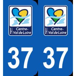 Département 37 Indre et Loire nouveau logo centre val de loire