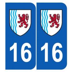 Département 16 Charente nouveau logo Nouvelle aquitaine