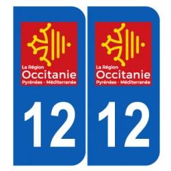 Département 12 Aveyron nouveau logo région occitanie