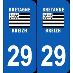 Département 29 Finistère région bretagne