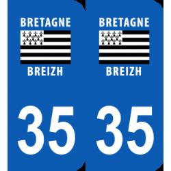 Département 35 Ille et Vilaine région bretagne