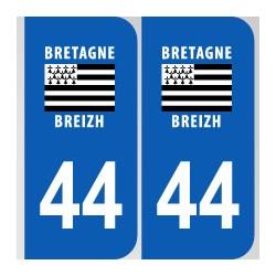 Département 44 Loire Atlantique région bretagne