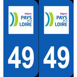 Département 49 Maine et  Loire région pays de la loire