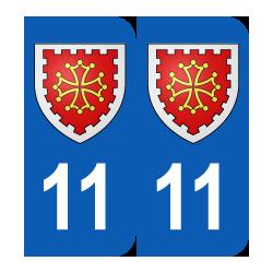 Département 11 aude blason logo région languedoc roussillon