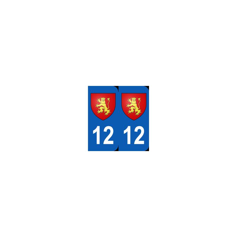 Département 12 Aveyron blason logo région midi pyrénées