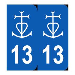 Département 13 croix camarguaise