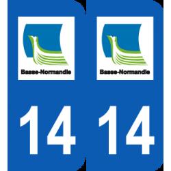 Département 14 calvados ancien logo basse normandie