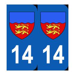 Département 14 calvados blason logo basse normandie